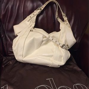 KOOBA TESS / Cream leather satchel